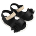 Petite Bello Shoes Black / 0-6 Months Baby Girl Flower Sandals
