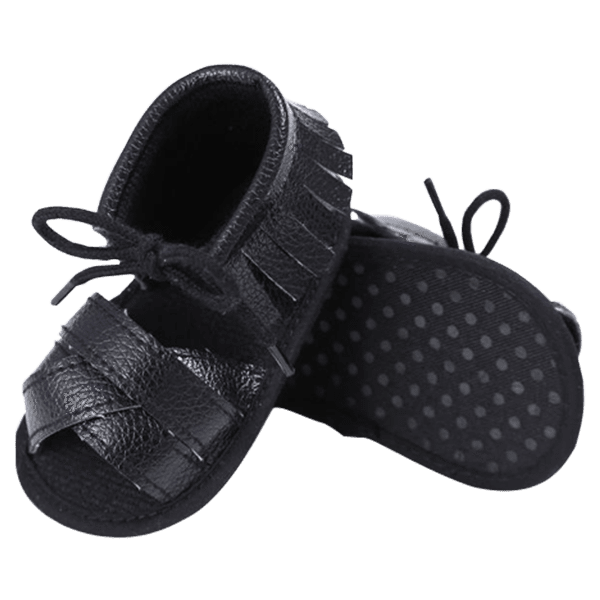 Petite Bello Shoes Black / 0-6 Months Baby Girl Tassel Sandals