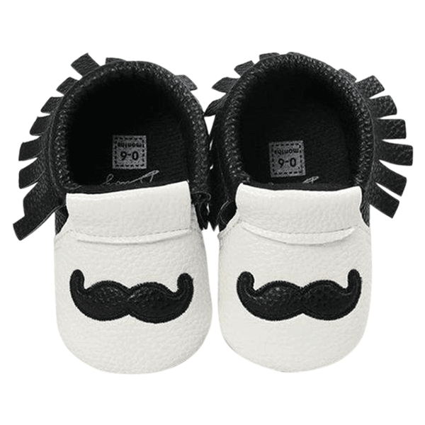 Petite Bello Shoes Black / 12-18 Months Little Mustache Pre-walkers