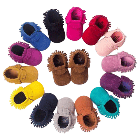 Petite Bello SHOES Colorful Suede Moccasins