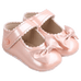 Petite Bello Shoes Deep Pink / 0-6 Months Baby Girl Bow Shoes