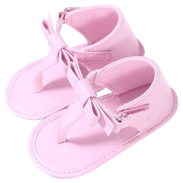 Petite Bello Shoes Pink / 0-6 Months Baby Bowknot Sandals