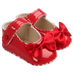 Petite Bello Shoes Red / 0-6 Months Baby Girl Bow Shoes