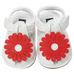 Petite Bello Shoes Red / 0-6 Months Cute Floral Sandals