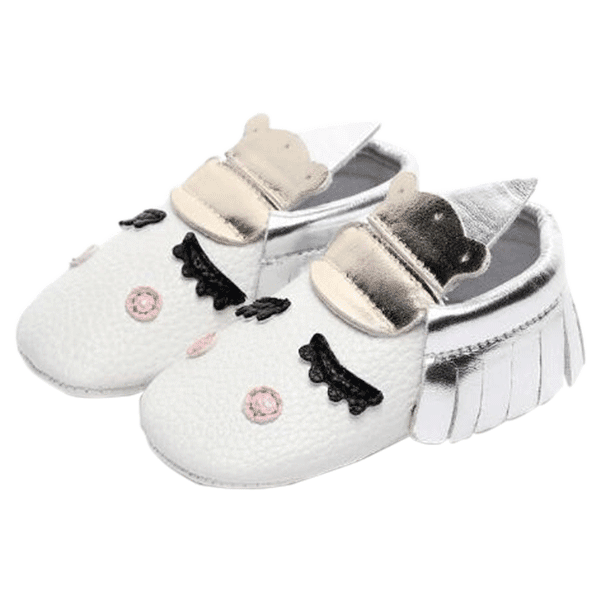 Petite Bello shoes Silver / 0-3 Months Baby Unicorn Moccasins