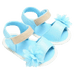 Petite Bello Shoes Sky Blue / 0-6 Months Baby Girl Flower Sandals