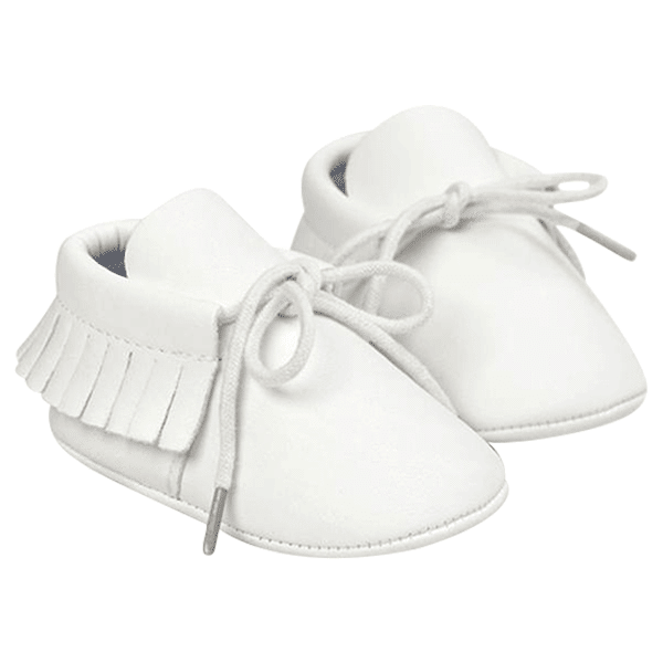 Petite Bello Shoes White / 0-6 Months Baby Leather Moccasins