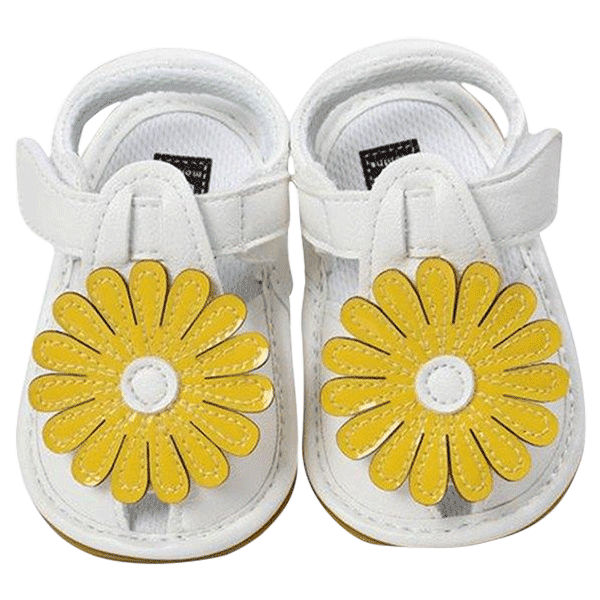 Petite Bello Shoes Yellow / 0-6 Months Cute Floral Sandals