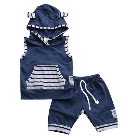 Petite Bello Summer Set 0-6 Months Carl Blue Summer Set