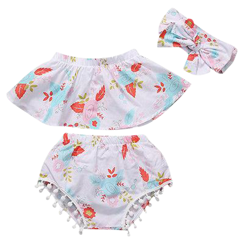 Petite Bello Summer Set 0-6 Months Journey Floral Summer Set
