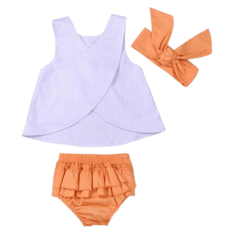 Petite Bello Summer Set 0-6 Months Lace Triangle Summer Set