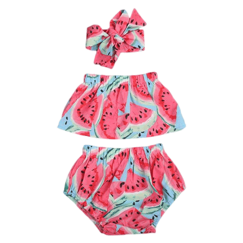 Petite Bello Summer Set 0-6 Months Watermelon Summer Set