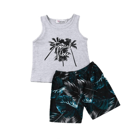 Petite Bello Summer Set 1-2T Tropical Vibes Summer Set