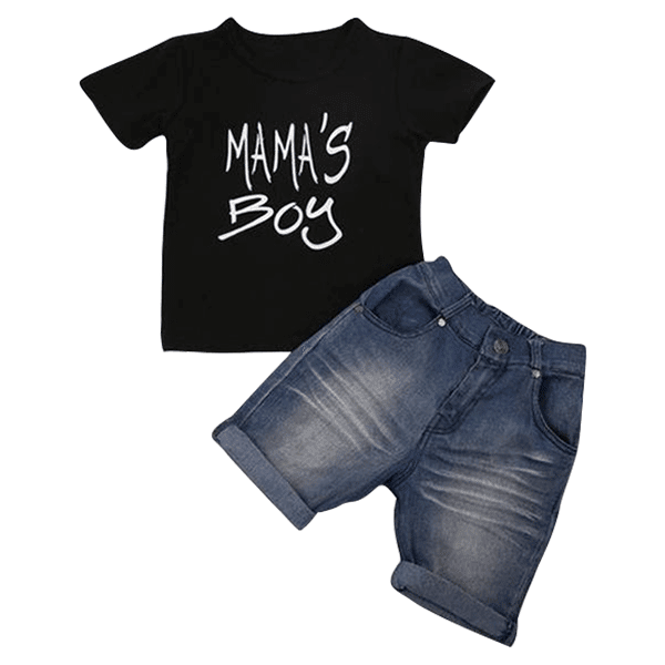 Petite Bello Summer Set 12-18 Months Mama's Boy Summer Set