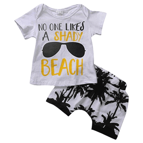 Petite Bello Summer Set 6-12 Months No One Likes A Shady Beach Summer Set