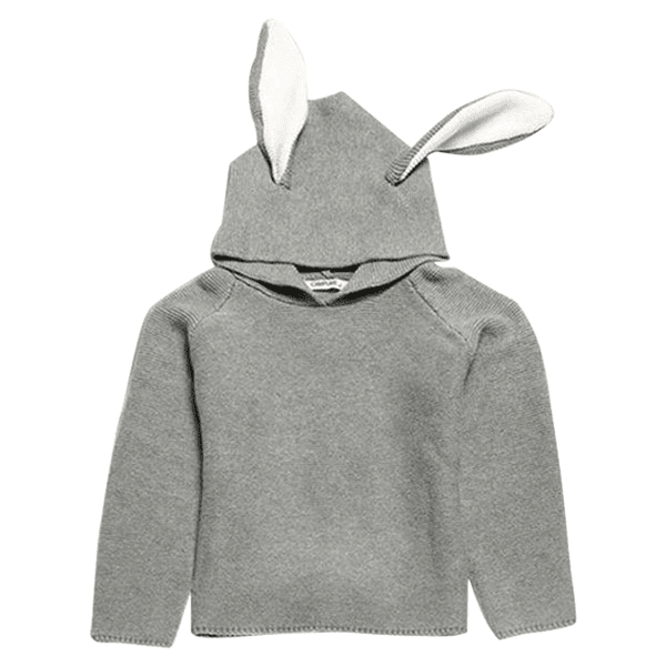 Petite Bello SWEATER Light Gray / 12-18 Months Bunny Sweater