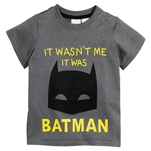 Petite Bello T-shirt 12M It Was Batman T-shirt