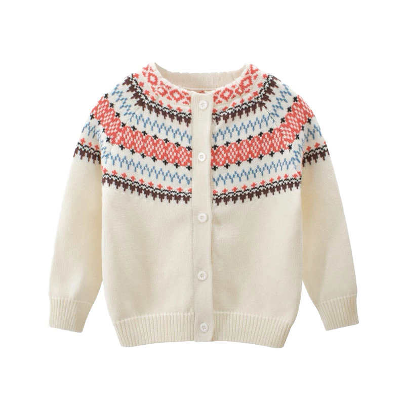 Petite Bello tops Beige / 1-2T Geometric Knitted Sweater