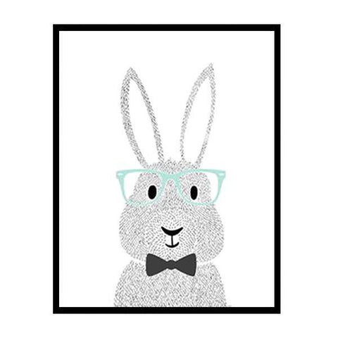 Petite Bello wall decor 20X25CM No Frame Cartoon Rabbit Canvas Art Print