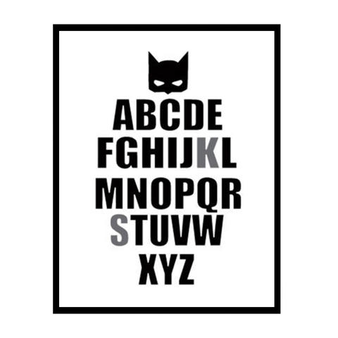 Petite Bello Wall print 10x15cm no frame ABC Batman Wall Print