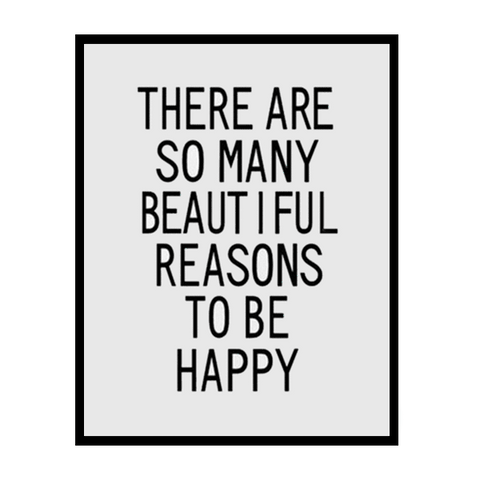 Petite Bello Wall print 12X16 inch Beautiful Reasons Wall Print