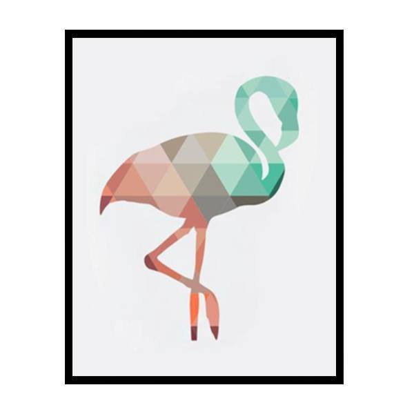 Petite Bello Wall print 8X10 Inches No Frame Coral Flamingo Wall Print