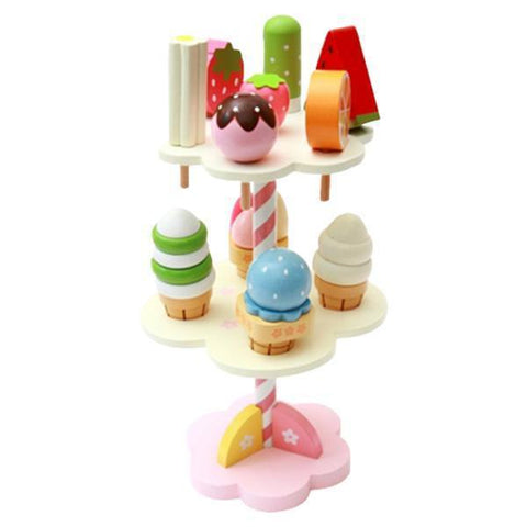 Petite Bello wooden toy Wooden Ice Cream Stand
