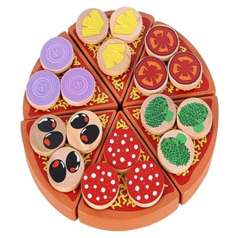Petite Bello wooden toy Wooden Pizza Toy