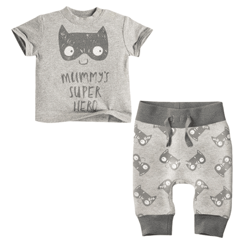 PetiteBello Clothing Set 0-6 Months Batman Spring Clothing Set