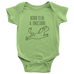teelaunch Bodysuit Baby Onesie / Keylime / NB Born To Be a Unicorn Bodysuit