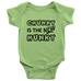 teelaunch Bodysuit Baby Onesie / Keylime / NB Chunky Is The New Hunky black Bodysuit