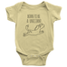 teelaunch Bodysuit Baby Onesie / Lemon / NB Born To Be a Unicorn Bodysuit