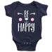 teelaunch bodysuit Baby Onesie / Navy / NB Be Happy Bodysuit