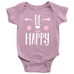 teelaunch bodysuit Baby Onesie / Pink / NB Be Happy Bodysuit