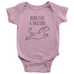 teelaunch Bodysuit Baby Onesie / Pink / NB Born To Be a Unicorn Bodysuit