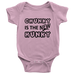 teelaunch Bodysuit Baby Onesie / Pink / NB Chunky Is The New Hunky black Bodysuit