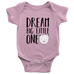 teelaunch Bodysuit Baby Onesie / Pink / NB Dream Big Bear Bodysuit