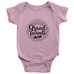 teelaunch Bodysuit Baby Onesie / Pink / NB Grandparents Day Bodysuit (black writing)