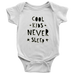 teelaunch Bodysuit Baby Onesie / White / NB Cool Kids Never Sleep Bodysuit