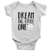 teelaunch Bodysuit Baby Onesie / White / NB Dream Big Bear Bodysuit