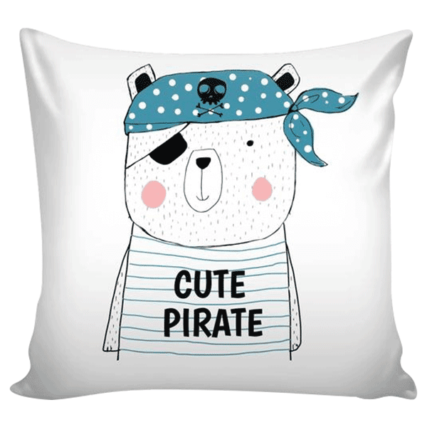 teelaunch Pillows Cute Pirate Cute Pirate Pillow Cover