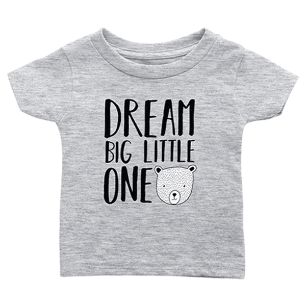 teelaunch T-shirt Infant T-Shirt / Heather Grey / 6M Dream Big Bear Infant T-Shirt