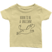 teelaunch T-shirt Infant T-Shirt / Lemon / 6M Born To Be A Unicorn Infant T-Shirt