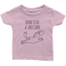 teelaunch T-shirt Infant T-Shirt / Light Pink / 6M Born To Be A Unicorn Infant T-Shirt