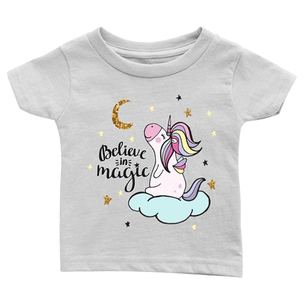 teelaunch T-shirt Infant T-Shirt / White / 6M Believe in Magic Infant T-Shirt