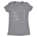 teelaunch T-shirt Next Level Ladies Triblend / Heather Grey / S But First Coffee White Women's Triblend