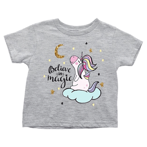 teelaunch T-shirt Toddler T-Shirt / Heather Grey / 2T Believe in Magic Toddler T-Shirt