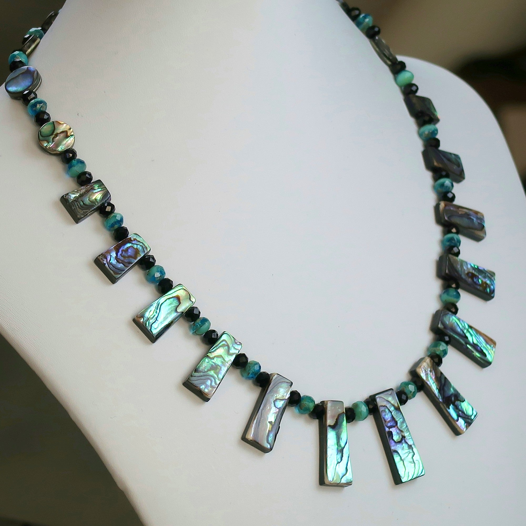 en swarovski crystals necklace aqua crystal beads jewellery pearls light by