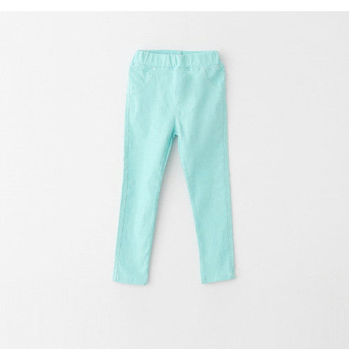Actionclub Summer Girls Pants Children Kids Causal Trousers Cotton Leggings Candy Color Jeans Spring Baby Girls Clothes