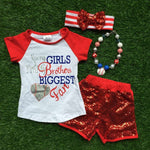 kids Baseball season clothes girls brother biggest fan outfits girls clothing with matching necklace and headband
